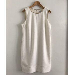 Sleeveless Midi Dress size 14 white
